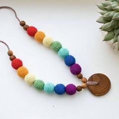 FrejaToys Rainbow Nursing Necklace-Babywearing Accessories-FrejaToys- Little Zen One US Babywearing baby carriers