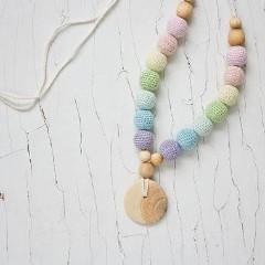 FrejaToys Scandi Rainbow Nursing Necklace-Babywearing Accessories-FrejaToys- Little Zen One US Babywearing baby carriers