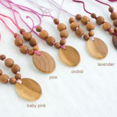 FrejaToys Shades of Pink Nursing Necklaces-Babywearing Accessories-FrejaToys- Little Zen One US Babywearing baby carriers