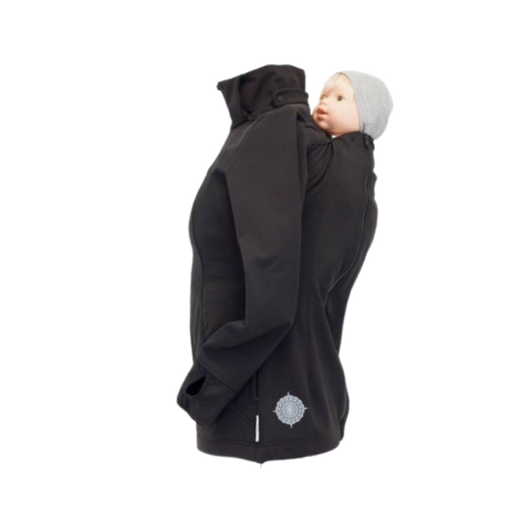 Angel Wings Babywearing Softshell Jacket Anthracite