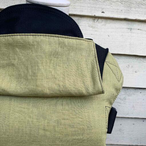Integra Baby Carrier Chartreuse Linen-Buckle Carrier-Integra- Little Zen One US Babywearing baby carriers