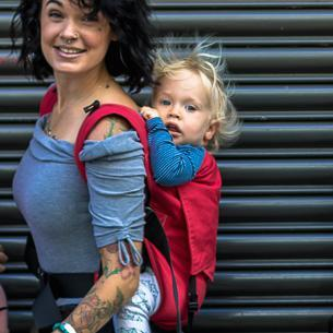 Integra Baby Carrier Essential Red-Buckle Carrier-Integra- Little Zen One US Babywearing baby carriers