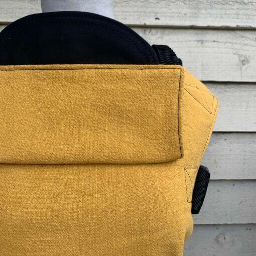 Integra Baby Carrier Ochre Texture Linen-Buckle Carrier-Integra- Little Zen One US Babywearing baby carriers