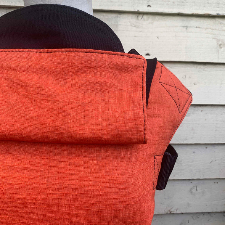 Integra Baby Carrier Rust Linen-Buckle Carrier-Integra- Little Zen One US Babywearing baby carriers