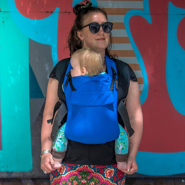Integra Baby Carrier Solar Ocean Blue-Buckle Carrier-Integra- Little Zen One US Babywearing baby carriers