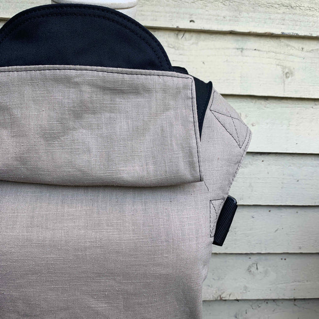 Integra Baby Carrier Stone Linen-Buckle Carrier-Integra- Little Zen One US Babywearing baby carriers