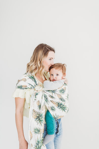 Junior Foxes Ring Sling The Golden Beach-Ring Slings-Junior Foxes- Little Zen One US Babywearing baby carriers