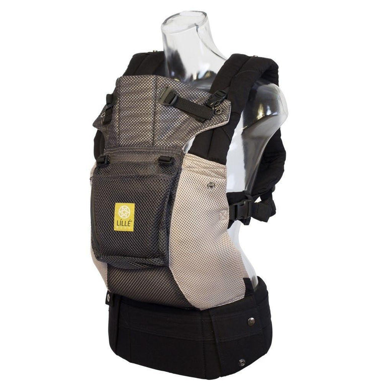 LÍLLÉbaby COMPLETE Airflow Grey and Silver-Buckle Carrier-Lillebaby- Little Zen One US Babywearing baby carriers