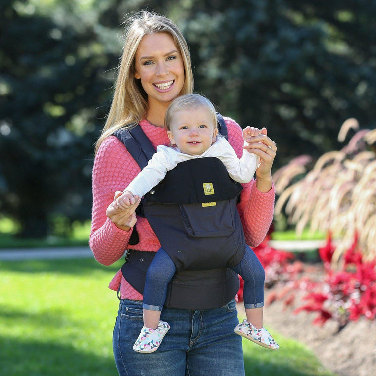 LÍLLÉbaby COMPLETE Original Charcoal & Black-Soft Structured Carrier-Lillebaby- Little Zen One US Babywearing baby carriers