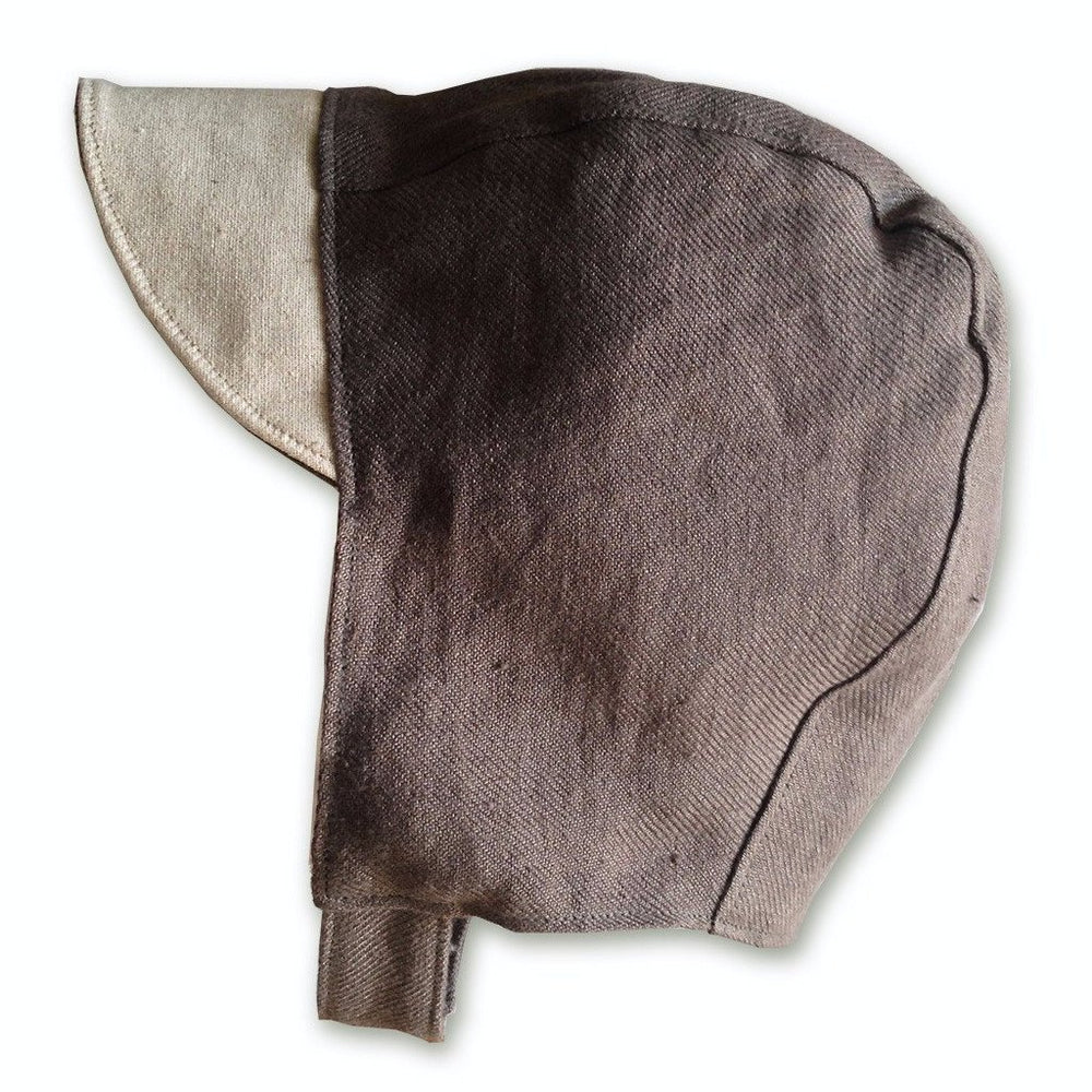 Patouche Linen Bonnet: Brown-Babywearing Accessories-Patouche- Little Zen One US Babywearing baby carriers