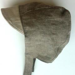 Patouche Linen Bonnet: Sand-Babywearing Accessories-Patouche- Little Zen One US Babywearing baby carriers