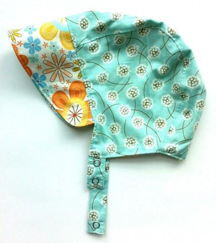Patouche Reversible Bonnet: Dandelion-Babywearing Accessories-Patouche- Little Zen One US Babywearing baby carriers