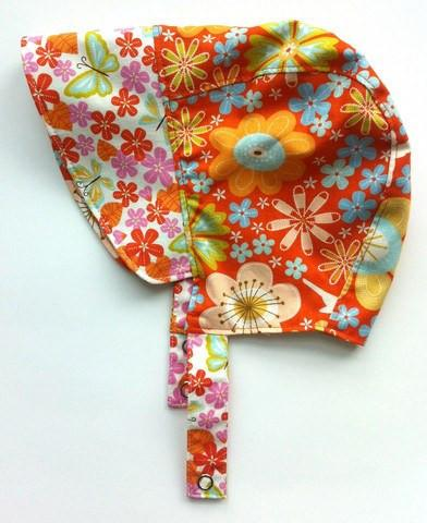 Patouche Reversible Bonnet: Zinnia-Babywearing Accessories-Patouche- Little Zen One US Babywearing baby carriers