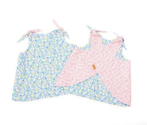 Patouche Reversible Smock Top Bluebell-Patouche- Little Zen One US Babywearing baby carriers