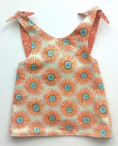 Patouche Reversible Smock Top: Burst-Patouche- Little Zen One US Babywearing baby carriers