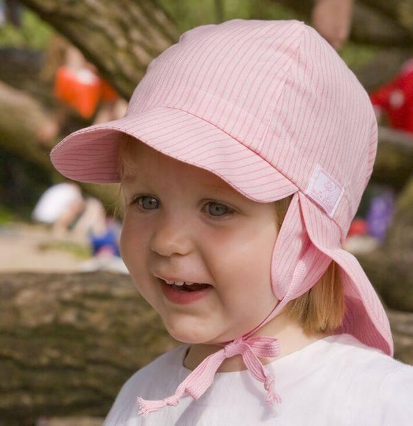 Pickapooh Organic Cotton Sun Hat: Tom Pink-Babywearing Accessories-Pickapooh- Little Zen One US Babywearing baby carriers