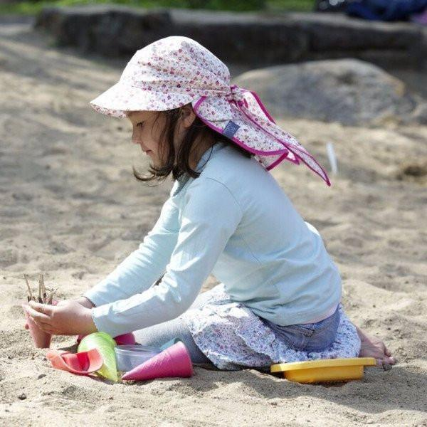Pickapooh Organic Cotton UV Sun Hat: Cora Bloom-Babywearing Accessories-Pickapooh- Little Zen One US Babywearing baby carriers