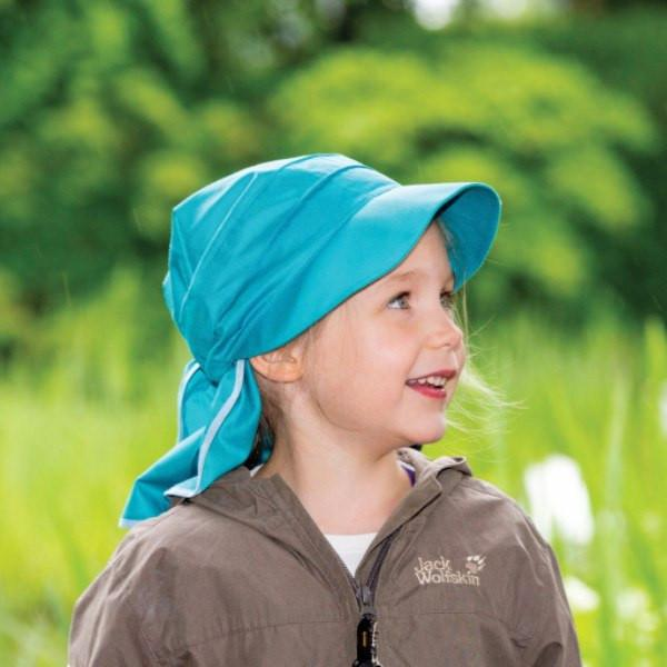 Pickapooh Organic Cotton UV Sun Hat: Cora Turquoise-Babywearing Accessories-Pickapooh- Little Zen One US Babywearing baby carriers