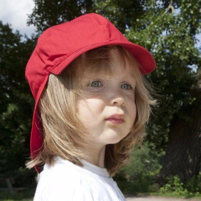 Pickapooh Organic Cotton UV Sun Hat: Felix Red-Babywearing Accessories-Pickapooh- Little Zen One US Babywearing baby carriers