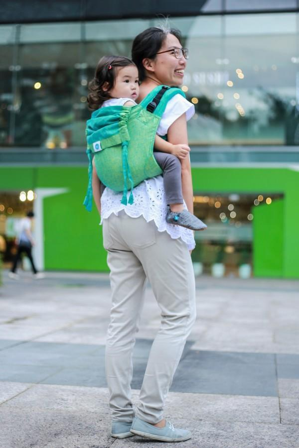 Seafoam Onbuhimo Soul Slings-Onbuhimo-Soul Slings- Little Zen One US Babywearing baby carriers