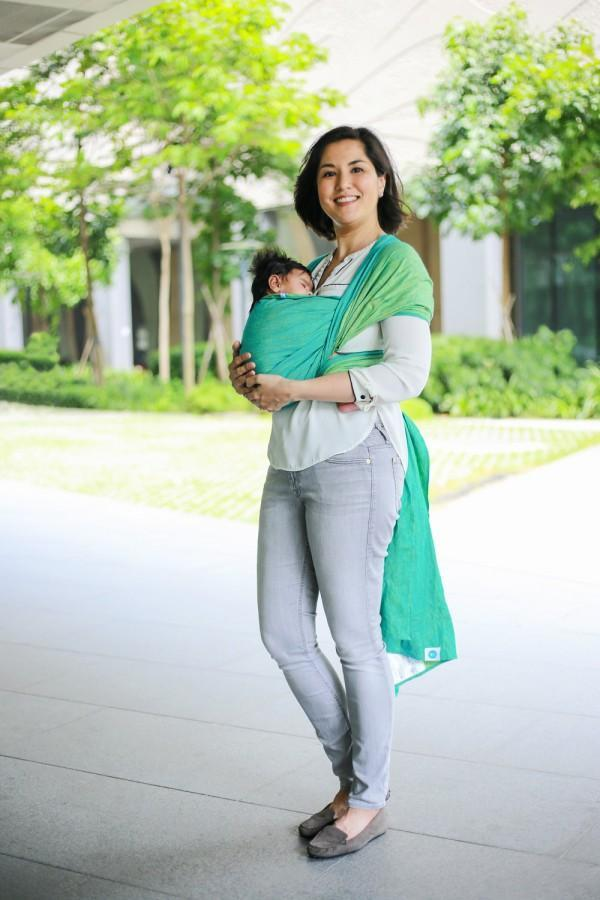 Seafoam Woven Wrap Soul Slings-Woven Wrap-Soul Slings- Little Zen One US Babywearing baby carriers
