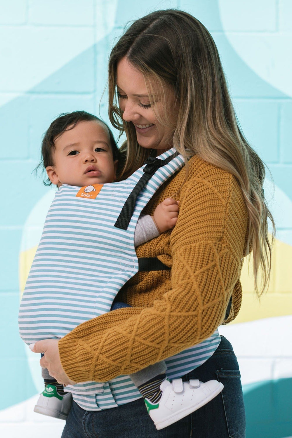 Ergonomic and Multiple Positions for 7-45 pounds Seaside Baby Tula Free-to-Grow Baby Carrier Adjustable Newborn to Toddler Carrier