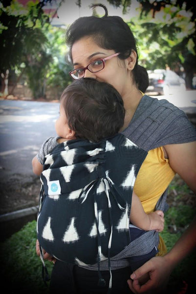 Soul Slings Meh Dai Eclipse on Grey-Meh Dais-Soul Slings- Little Zen One US Babywearing baby carriers