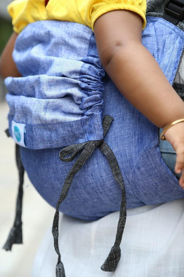 Soul Slings Onbuhimo Anchor linen-Onbuhimo-Soul Slings- Little Zen One US Babywearing baby carriers