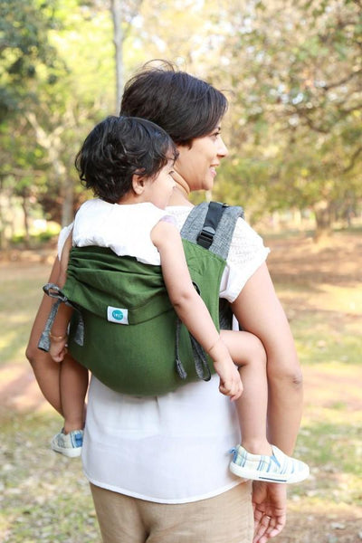 Soul Slings Onbuhimo Matcha linen-Onbuhimo-Soul Slings- Little Zen One US Babywearing baby carriers