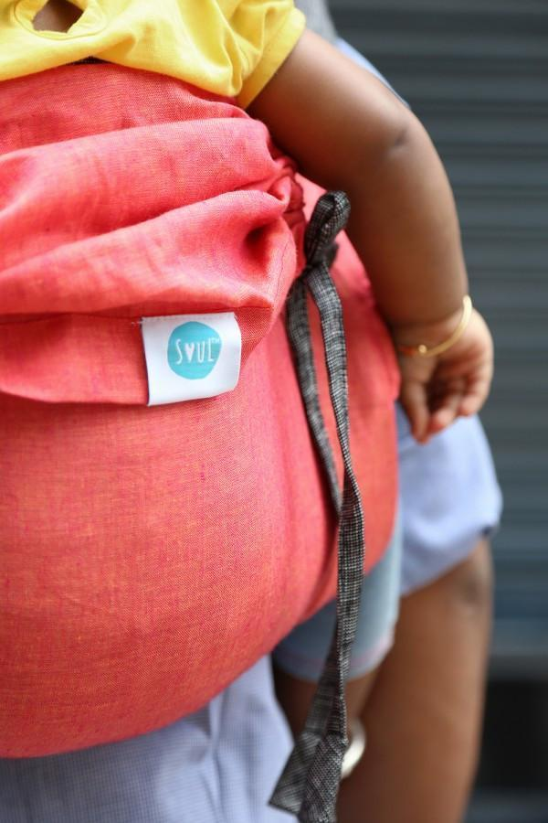 Soul Slings Onbuhimo Melon linen-Onbuhimo-Soul Slings- Little Zen One US Babywearing baby carriers