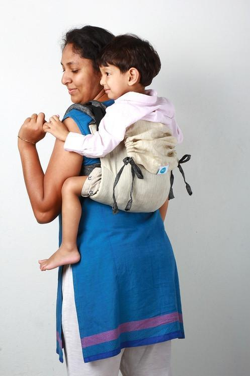 Soul Slings Onbuhimo Vanilla linen-Onbuhimo-Soul Slings- Little Zen One US Babywearing baby carriers