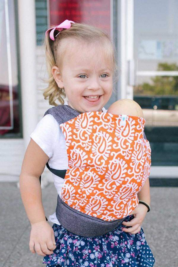 Soul Slings Orange Pop Doll Buckle Carrier-Babywearing Accessories-Soul Slings- Little Zen One US Babywearing baby carriers