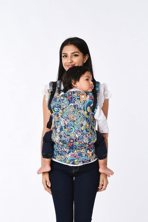 Space Rider Tula Free-to-Grow Baby Carrier-Buckle Carrier-Baby Tula- Little Zen One US Babywearing baby carriers
