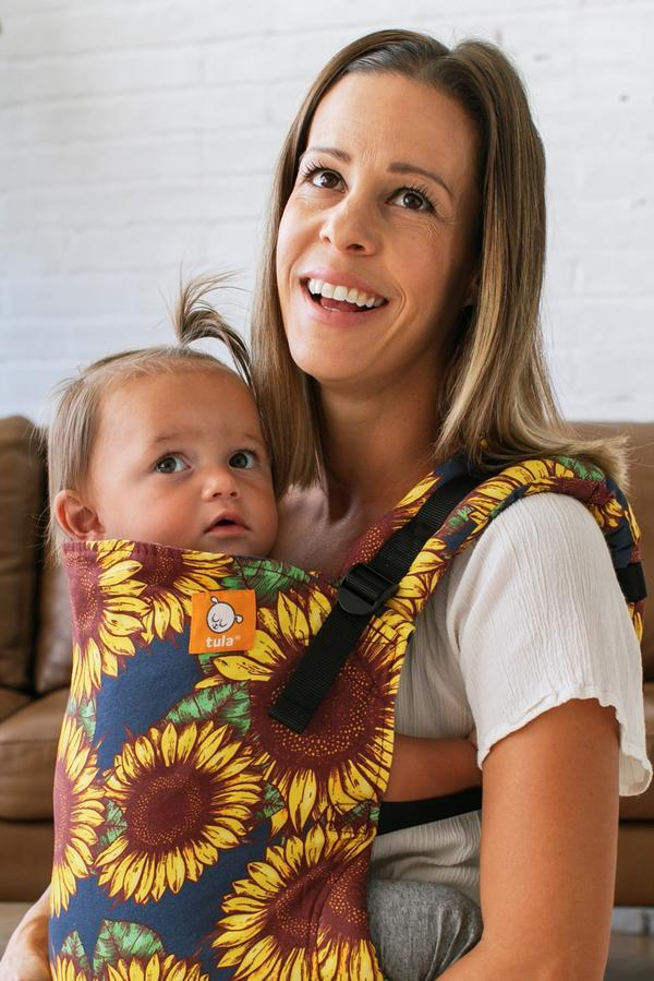 Sunflowers Tula Standard Baby Carrier-Buckle Carrier-Baby Tula- Little Zen One US Babywearing baby carriers