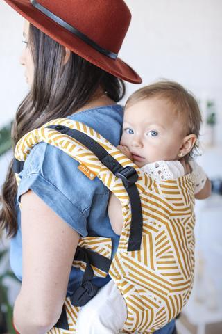 Sunset Stripes Tula Free-to-Grow Baby Carrier-Buckle Carrier-Baby Tula- Little Zen One US Babywearing baby carriers