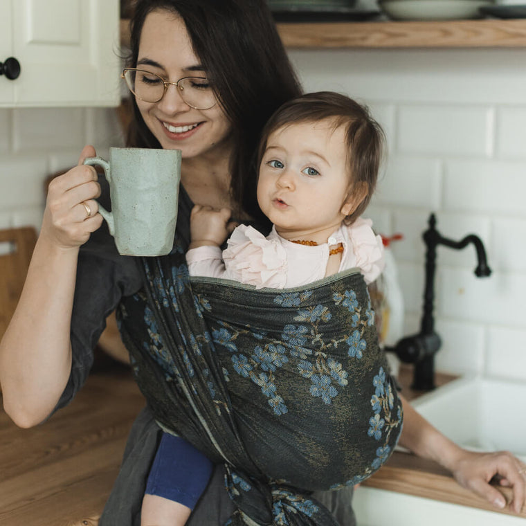 Didymos Baby Woven Wrap Blue Blossom