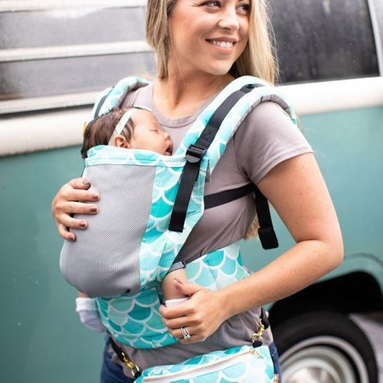 Tula Free-to-Grow Baby Carrier Coast Syrena Sky-Buckle Carrier-Baby Tula- Little Zen One US Babywearing baby carriers
