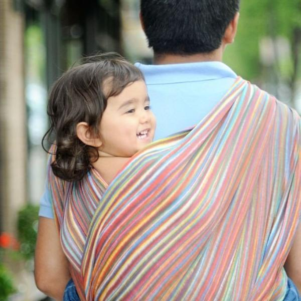 Wrapsody Breeze Iris-Woven Wrap-Wrapsody- Little Zen One US Babywearing baby carriers