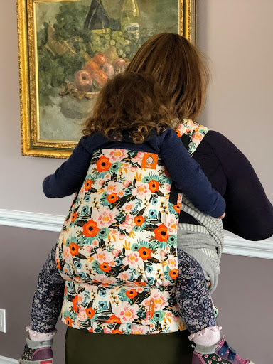 Tula half buckle toddler back carry
