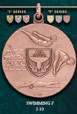 Swimming F. Medal – 1-3/4""