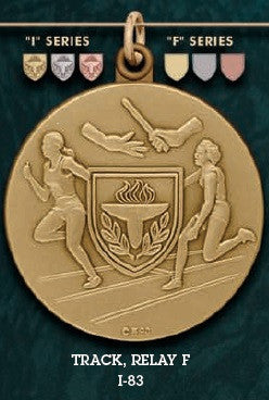 Track Relay F. Medal – 1-3/4""