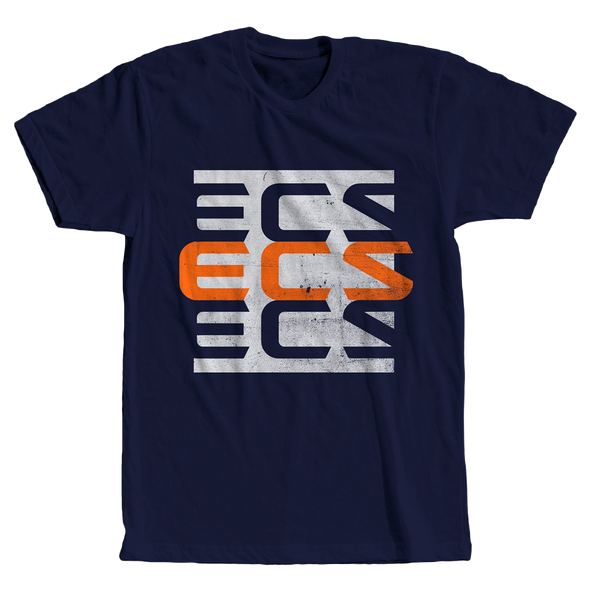 ECS 3Up Tee - Navy - FACEIT Global Store