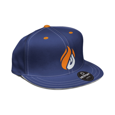 ECS Flame Snapback - Navy - FACEIT Global Store