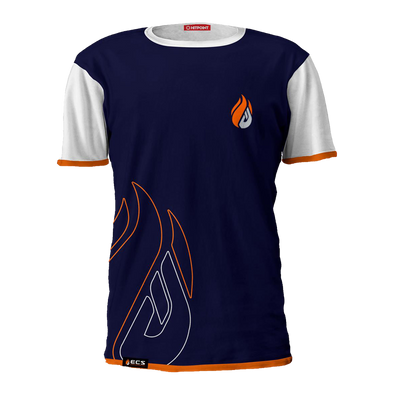 ECS Navy & White Flame Tee - FACEIT Global Store
