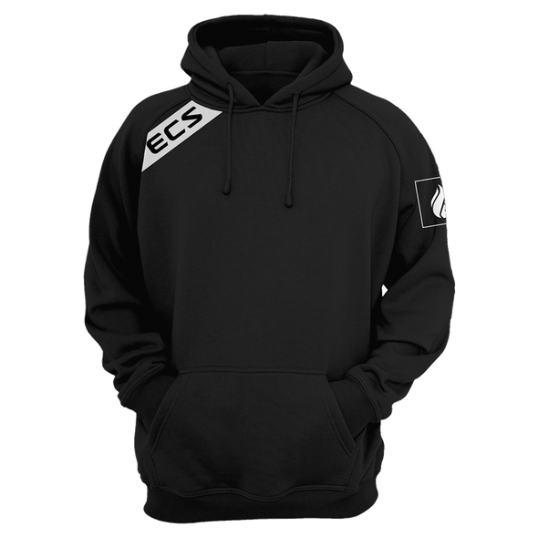 ECS Slant Pullover Hoodie - Black - FACEIT Global Store