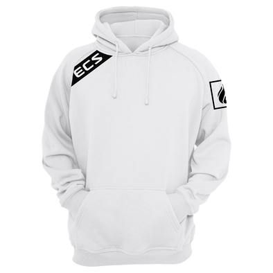 ECS Slant Pullover Hoodie - White - FACEIT Global Store