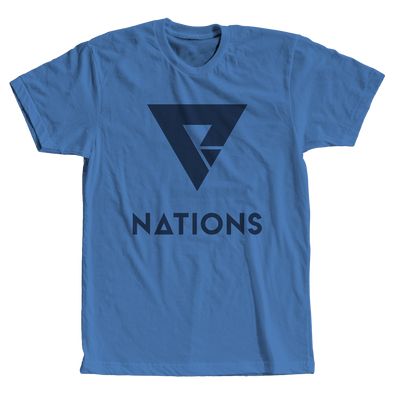 Nations Big Logo Tee - Marina Blue - FACEIT Global Store
