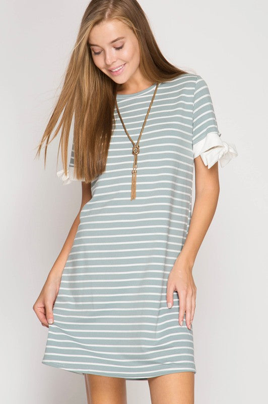 Striped Slate Dress