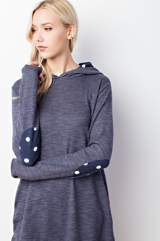 Polka Dot Patch Pullover