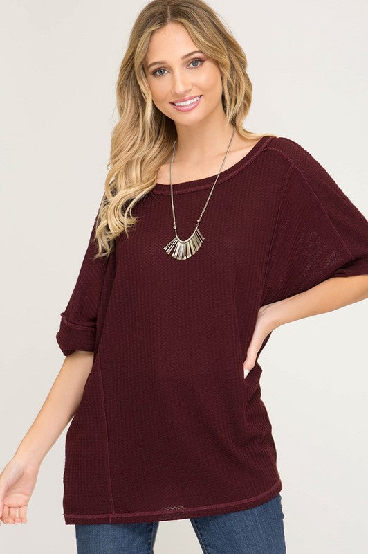 Casual Days Knit Thermal Top